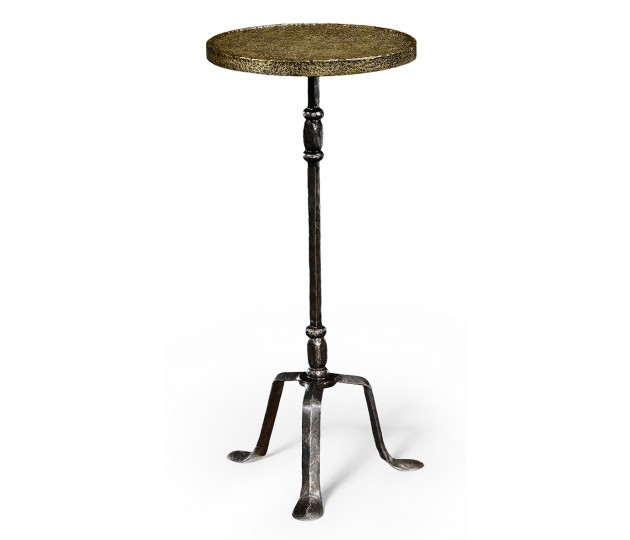 Textured Brass & Iron Lamp Table