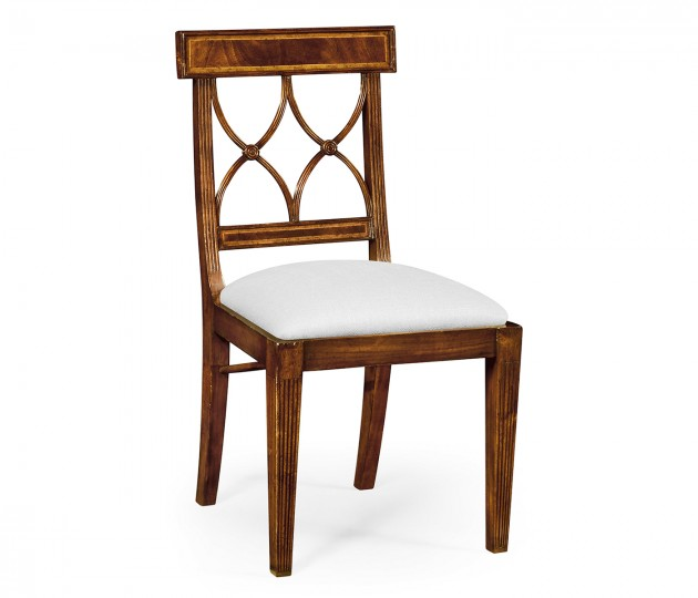 Regency Mahogany Curved Back Chair (Side) – COM