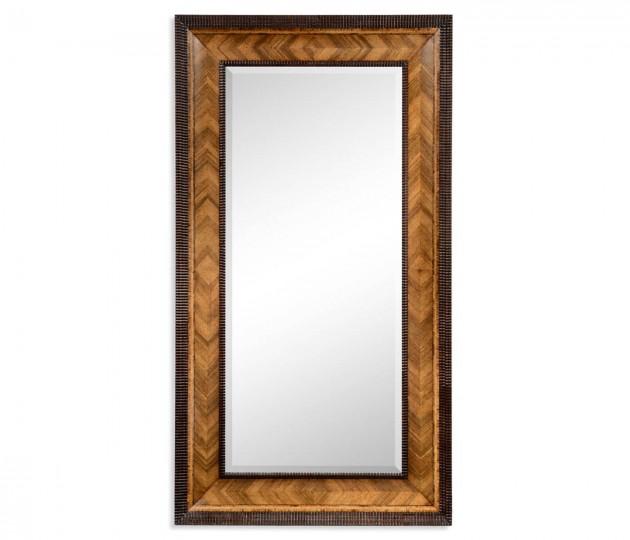 Gadrooned Floor Standing Mirror