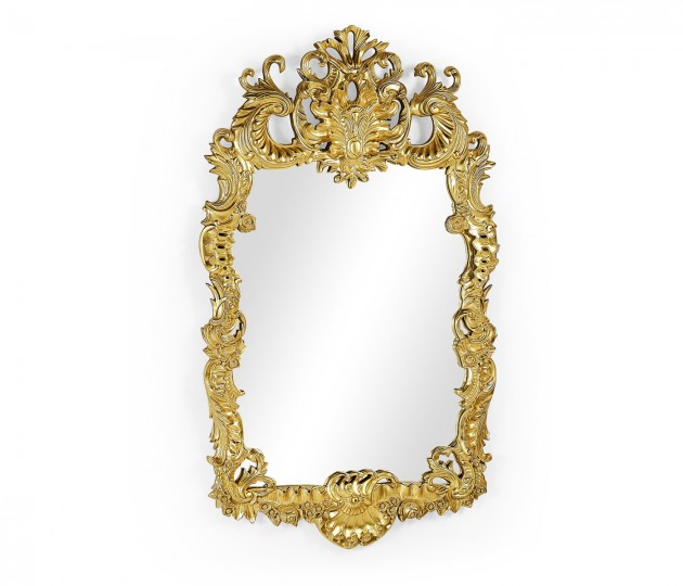 Finely carved & gilded rococo style mirror