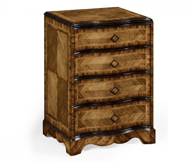 Small chest with decorative argentinian walnut veneer