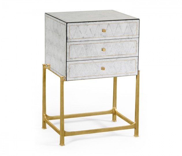 �glomis� & Gilded High Chest of Drawers