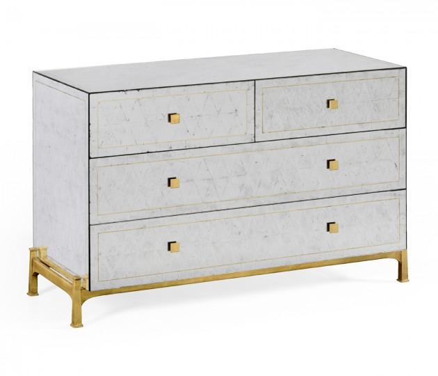 �glomis� & Gilded Large Chest of Drawers