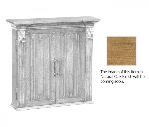 Dartboard Natural Oak Cabinet