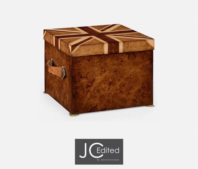Union Jack Square Box Inlaid