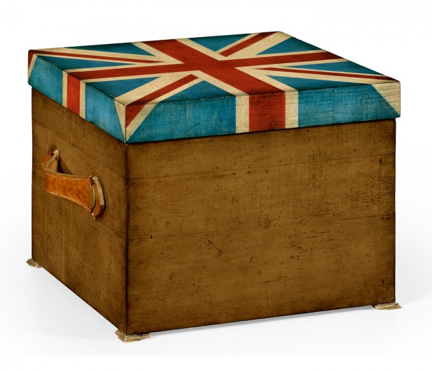 Union Jack Square Box Painted