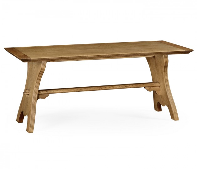 Natural oak tavern dining table large