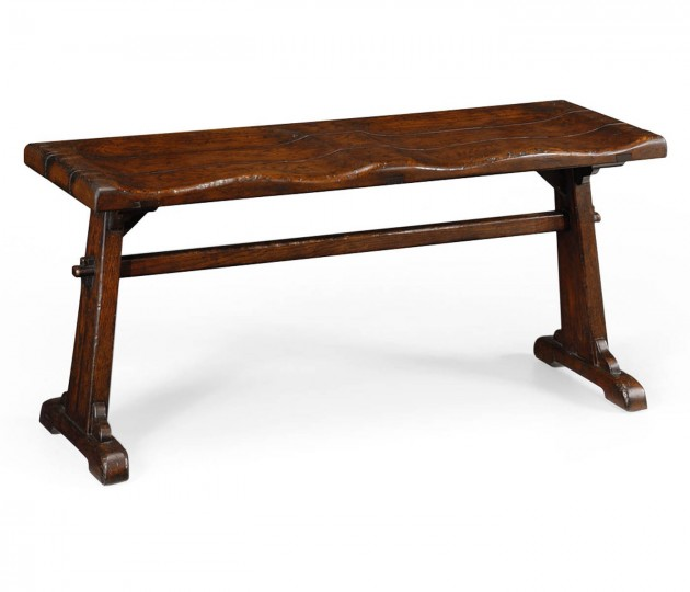 Oak tavern dining bench