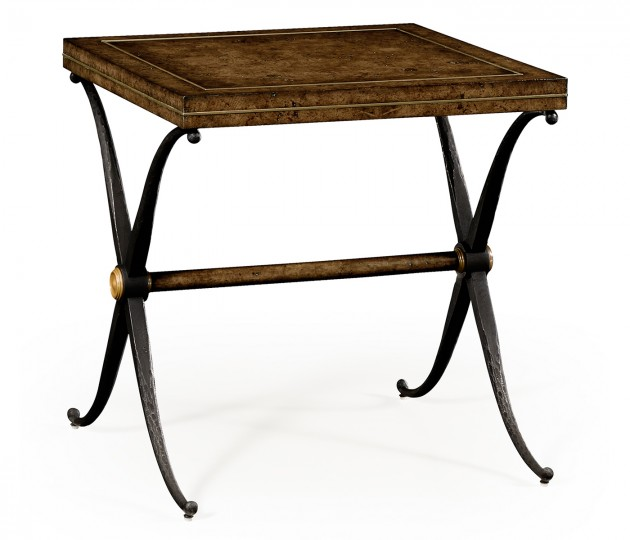 Large Hammered Iron Side Table
