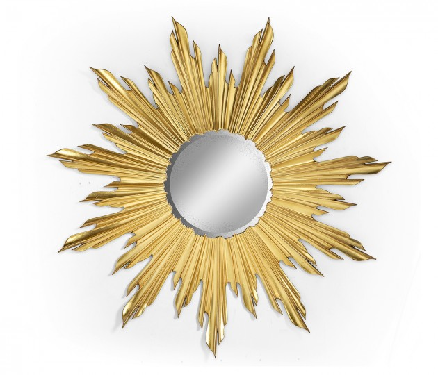 Small gilded sunburst mirror