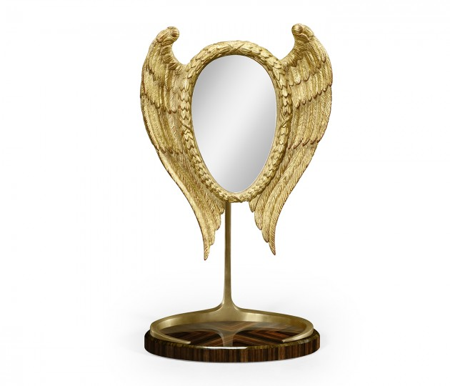 Classical Gilded Winged Macassar Ebony High Lustre Dressing Mirror