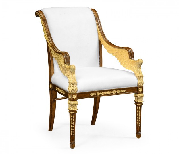 Empire Angel Arm Chair, Upholstered in COM by Distributor