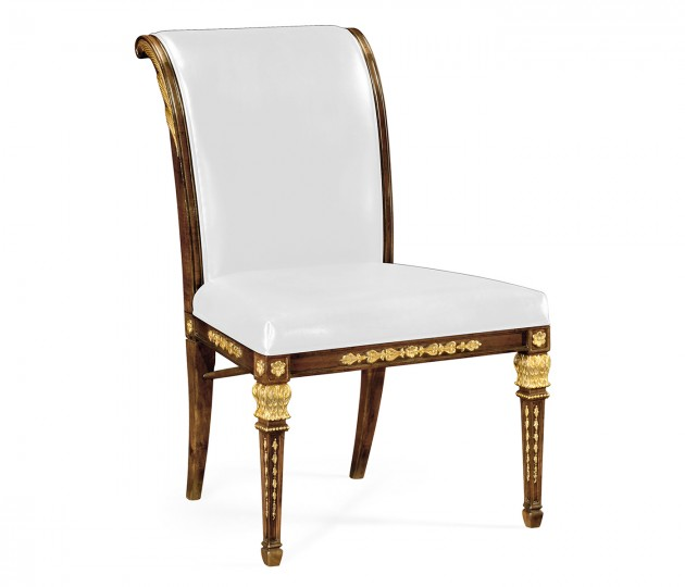 Empire Angel Wing Side Chair, Upholstered in COM