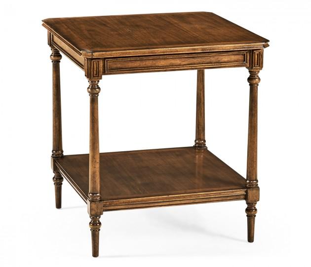 Victorian style walnut side table