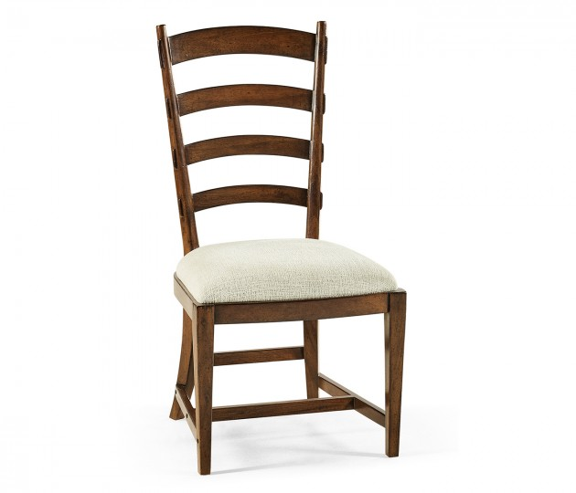 Walnut Ladderback Style Side Chair