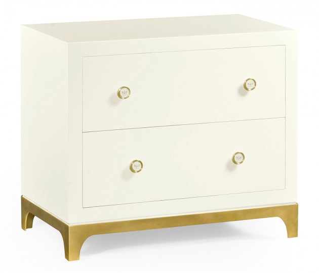 Blanc & Gold Low Chest