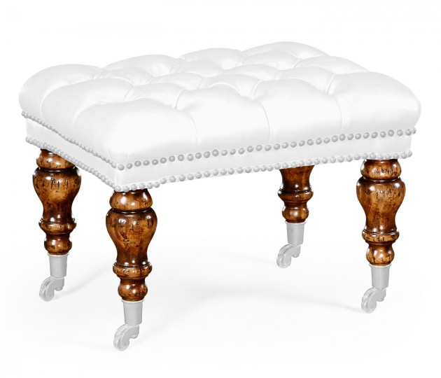 Small Chesterfield Style Footstool/Ottoman