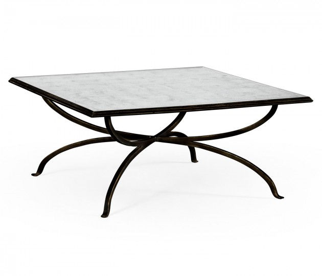 �glomis� and Bronze Square Coffee Table