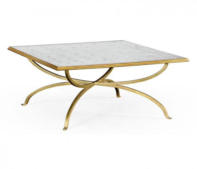�glomis� and Gilded Square Coffee Table