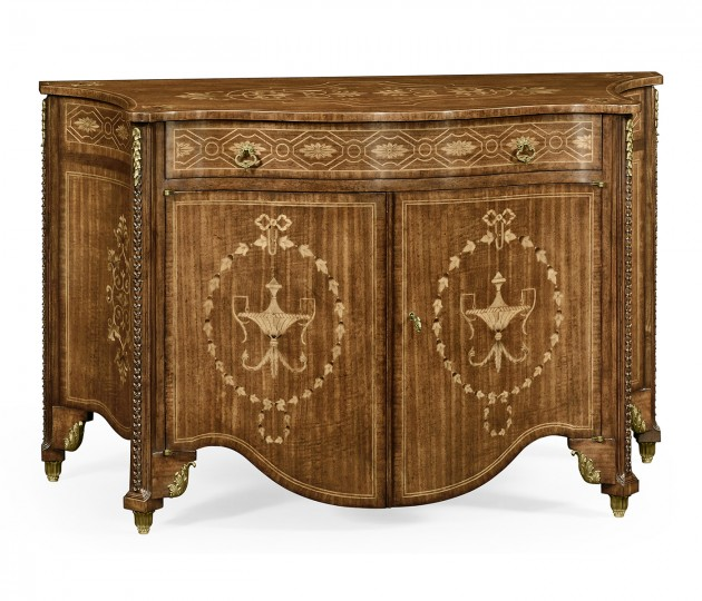 Chippendale style commode with fine inlay