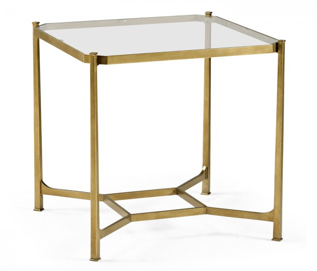 Gilded Square Side Table