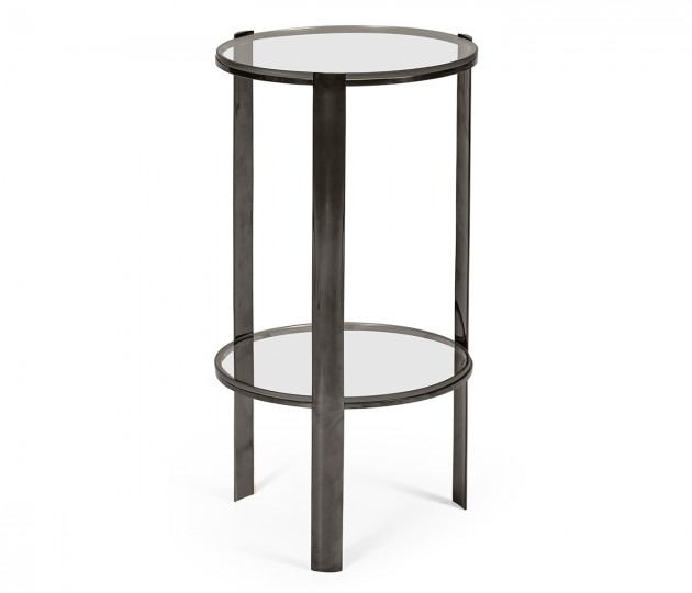 Gatsby Black Nickel Drinks Table
