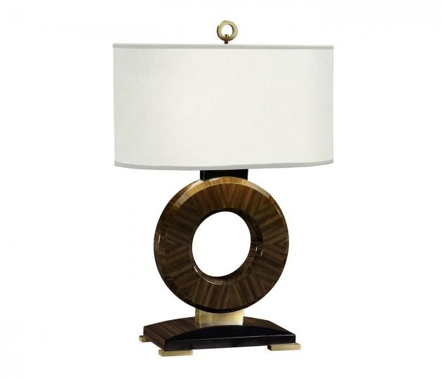 Porthole Macassar Ebony High Lustre Table Lamp