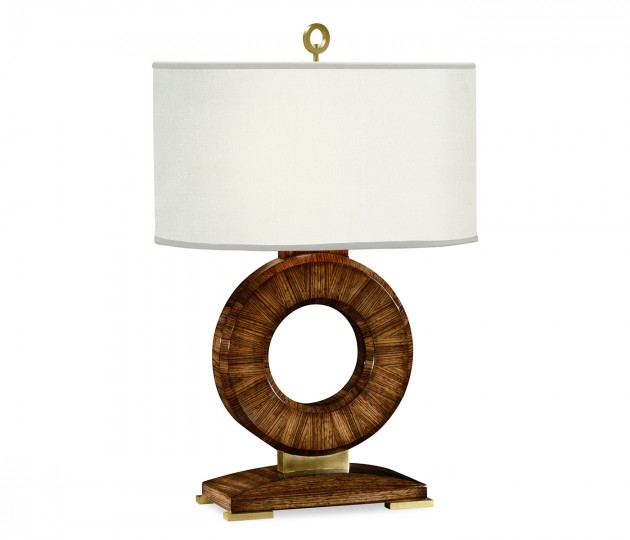 Porthole Zebrano Table Lamp