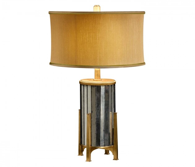 �glomis� and Gilded Metal Table Lamp