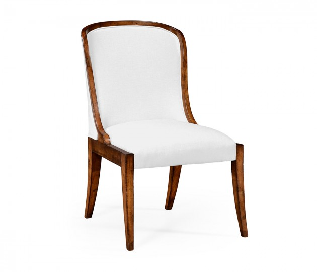 Low Curved Back Upholstered Dining Side Chair (COM)