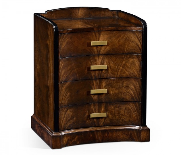 Biedermeier Style Mahogany Bedside Chest of Drawers