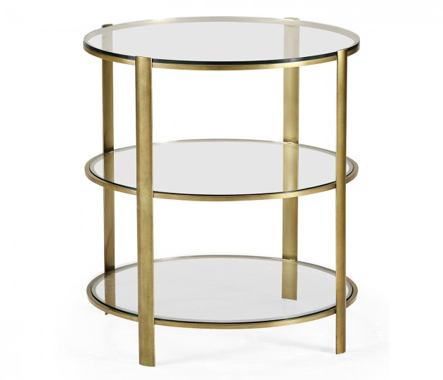 Brass & Glass Circular Side Table
