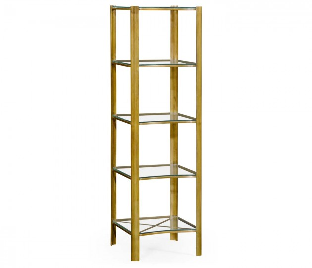 Brass & Glass Five Tier �tag�re
