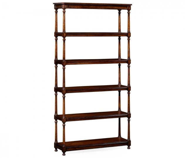 Five tier �tag�re with double column supports