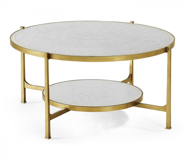 �glomis� Glass Gilded Coffee Table