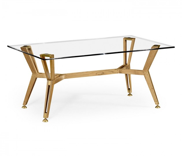 Midcentury Style Rectangular Oak Coffee Table