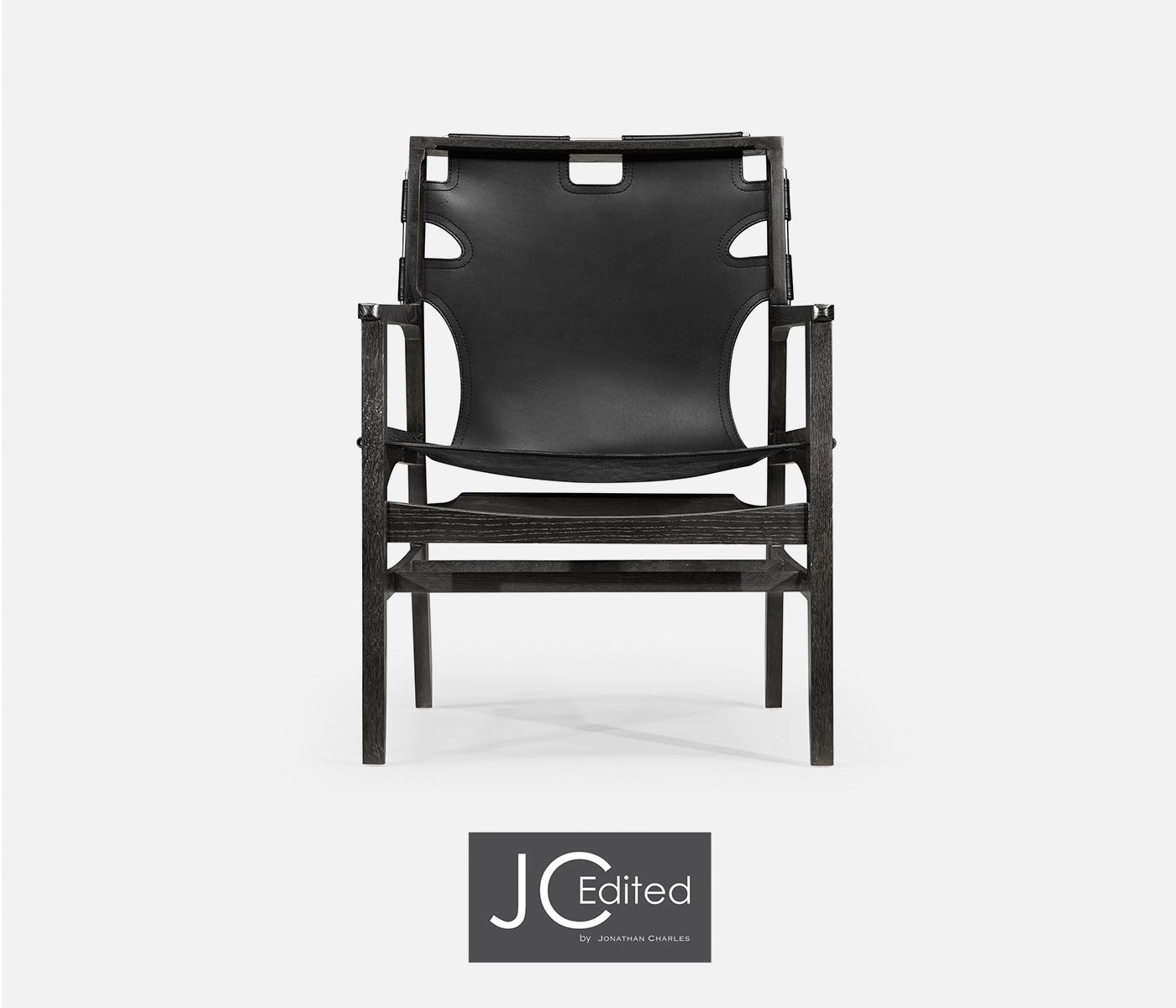 Marvelous Midcentury Style Slung Black Leather Black Mocha Oak Easy Inzonedesignstudio Interior Chair Design Inzonedesignstudiocom
