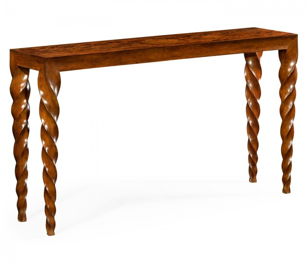 Walnut Barleytwist Console Table