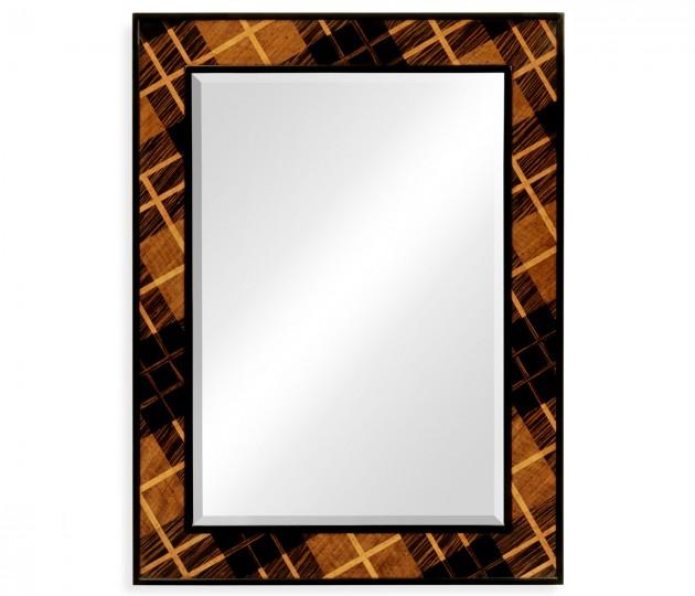 Hand Inlaid Tartan Wall Hanging Mirror