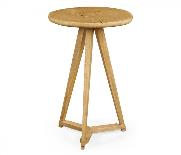 Oak & Oyster Side Table