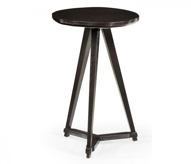 Circular Black Mocha Oak & Oyster Side Table