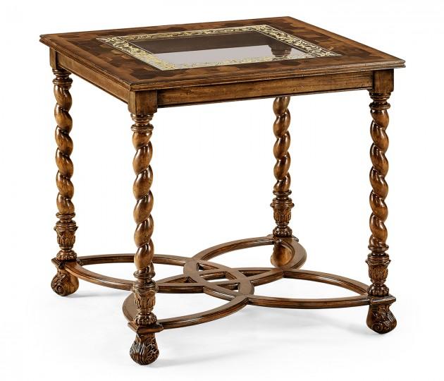 """Oyster & églomisé side table (26"""")"""