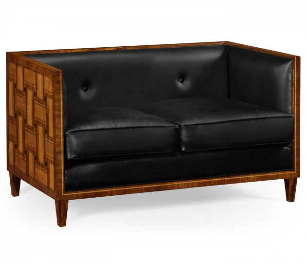 2 Seater Cosmo Sofa, Upholstered in Black Leather