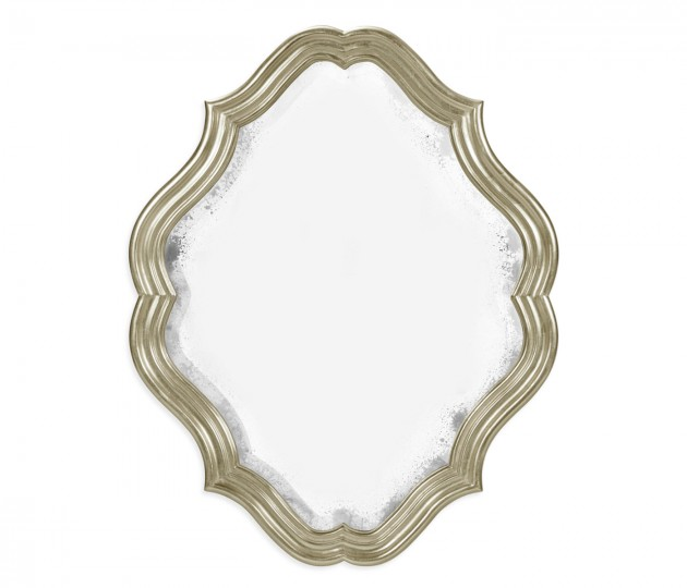 Oval antique mirror (Silver)