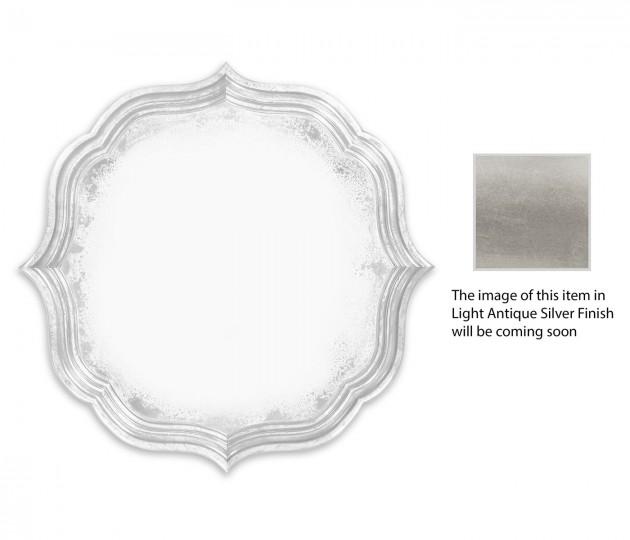 Round antique mirror (Silver)