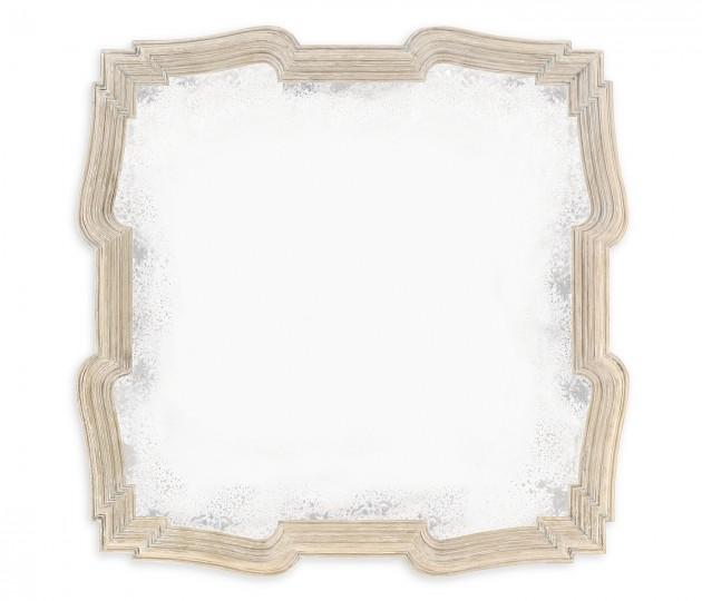 Limed Acacia Antique Mirror