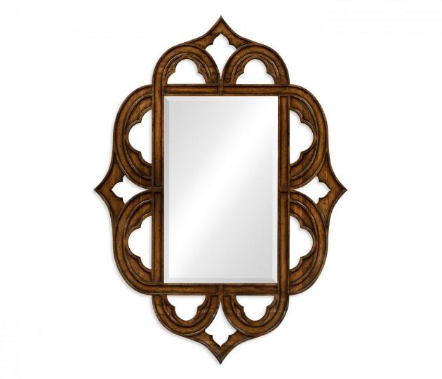 Rustic walnut  mirror