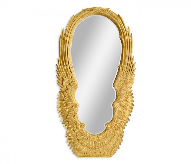 Classical Gilded Winged Floor Mirror