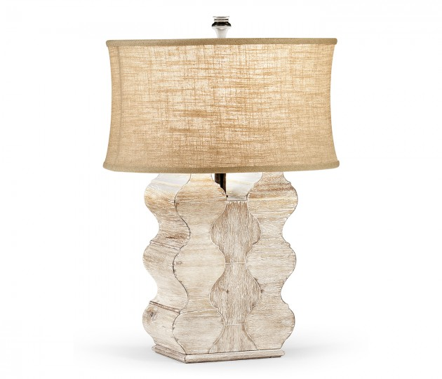 Limed Acacia Table Lamp