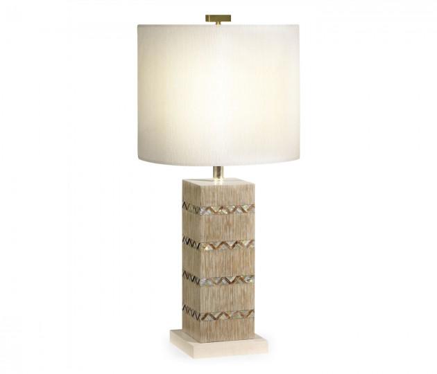 Herringbone Shell Inlaid Lamp
